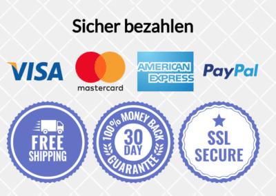 Sicheres Bezahlen mit allen wichtigen Zahlungsanbietern